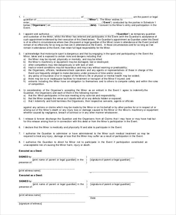 free printable temporary guardianship form - thebridgesummit.co