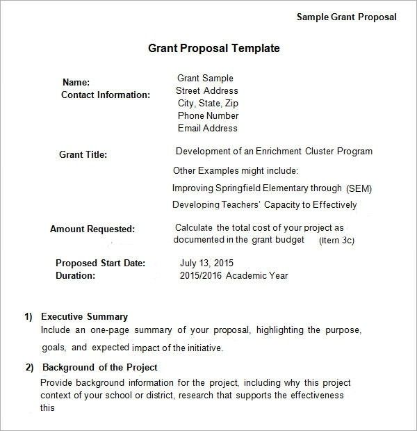 Sample Word Proposal Template. Pdf Format Consulting Project ...