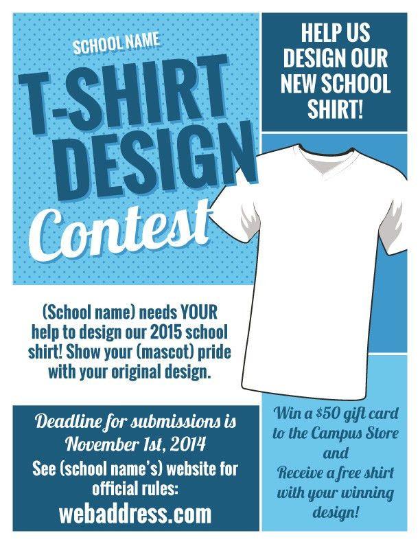 T-Shirt Design Contest Maketing Flyers | InkSoft