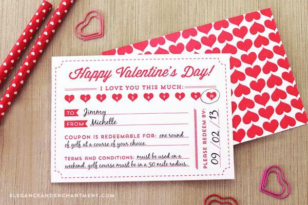 Valentine's Day Coupon Free Printable