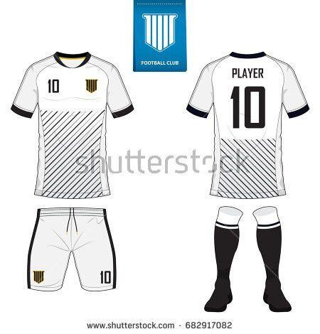 Set Soccer Kit Football Jersey Template Stock Vector 614909141 ...