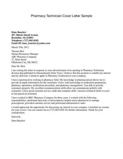 pharmacist resume cover letter pharmacist cover letter sample