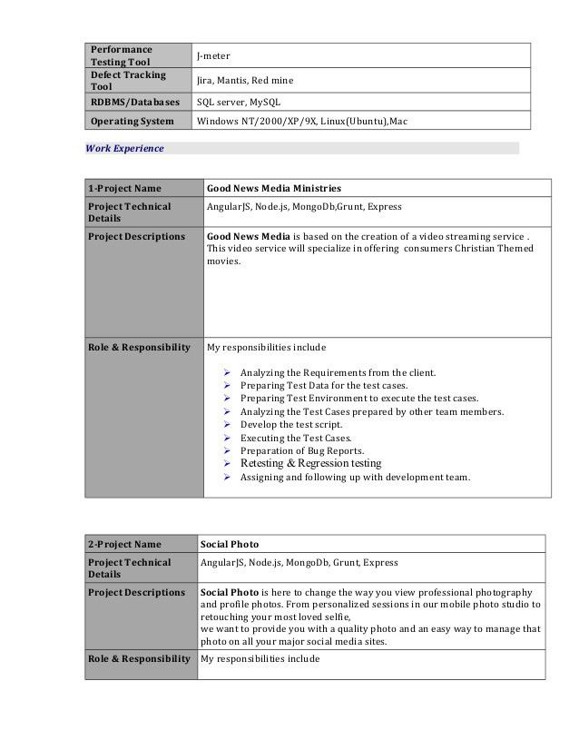 Yogesh test engineer resume