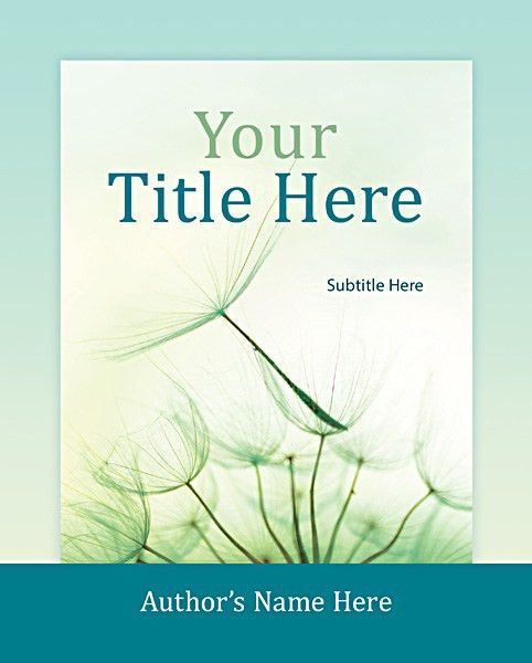 Custom Book Cover Design Template for 7.375 x 9.25 from ...