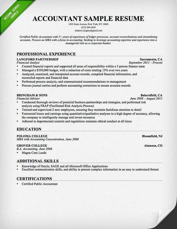 Example Of Resume Format. Resume Format Examples For Students ...
