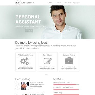 Simple personal profile template free website templates for free ...
