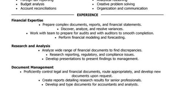 Staff Accountant Job Description Staff Accountant Resume Cover ...