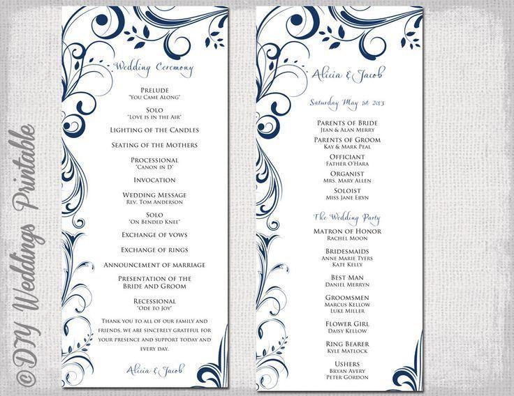 Cele mai bune 25+ de idei despre Wedding program template word pe ...