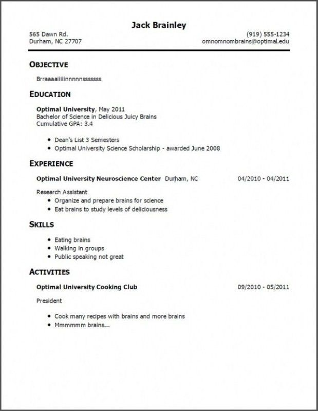 Resume examples teenager