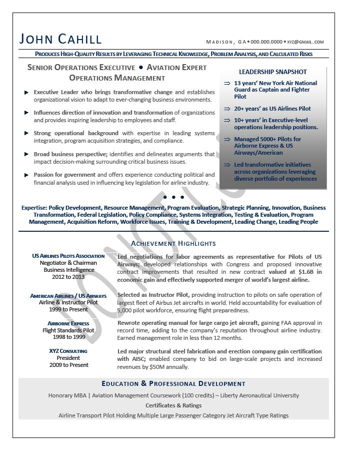 COO Resume / Chief Operating Officer Resume Samples   Mary ...