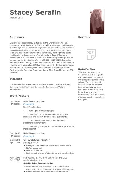 Merchandiser Resume samples - VisualCV resume samples database