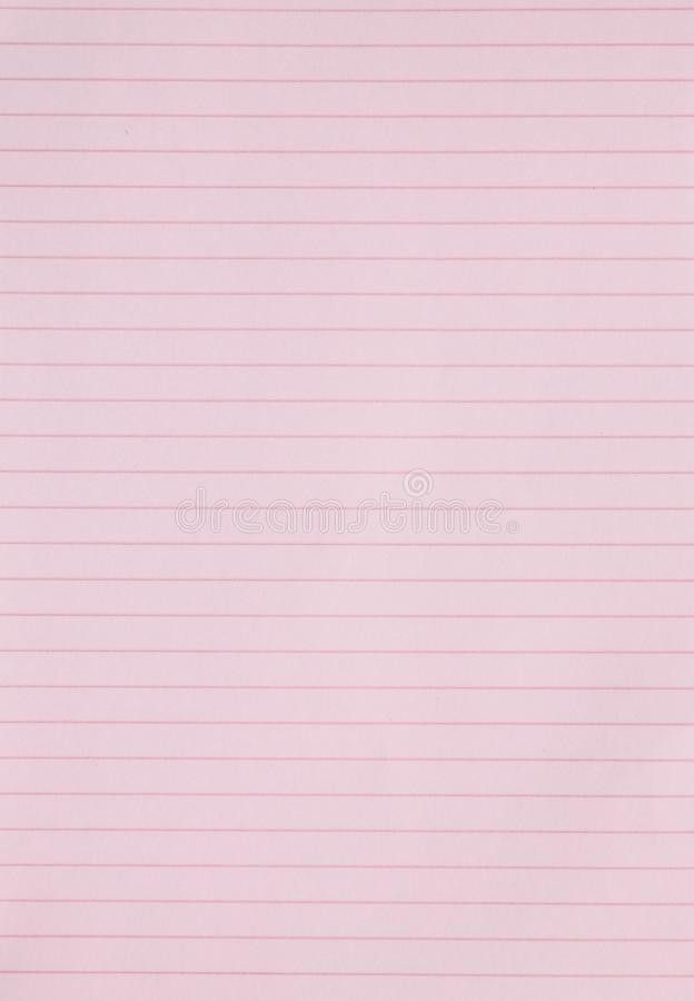 Blank Pink Lined Paper Background Or Textured Stock Photography ...
