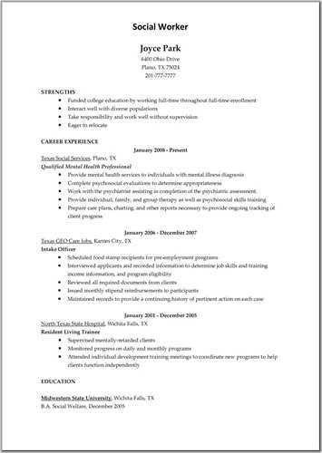 Job Description of Childcare Resume