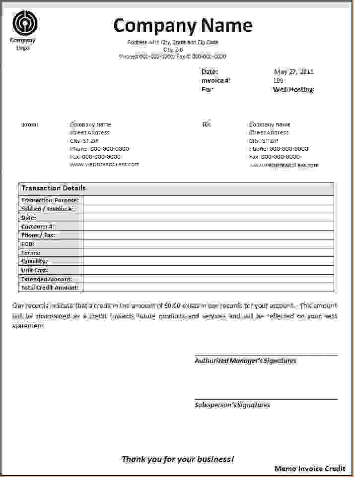 5+ a credit memo is a document thatReport Template Document ...