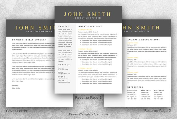 Modern Resume Template Word 2 - Resume Template Start