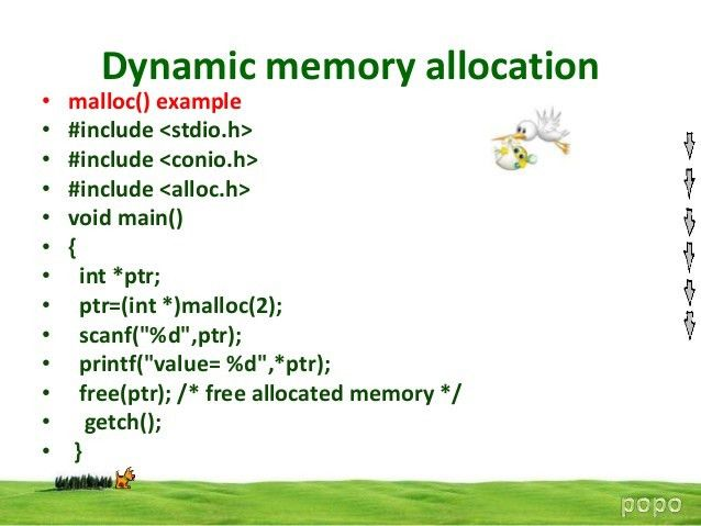 4 dynamic memory allocation