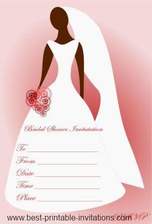 Blank Bridal Shower Invitations | badbrya.com