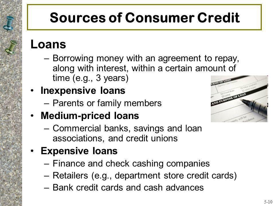 5A Consumer Credit #1 Credit – An arrangement to receive cash ...