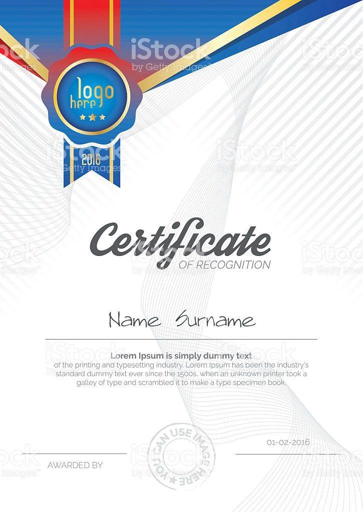 A4 Vertical Certificate Layout Design stock vector art 618619954 ...