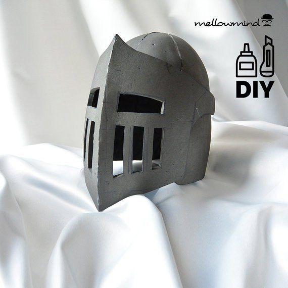 Knight Helmet Template for EVA foam version by mellowmindCosplay ...