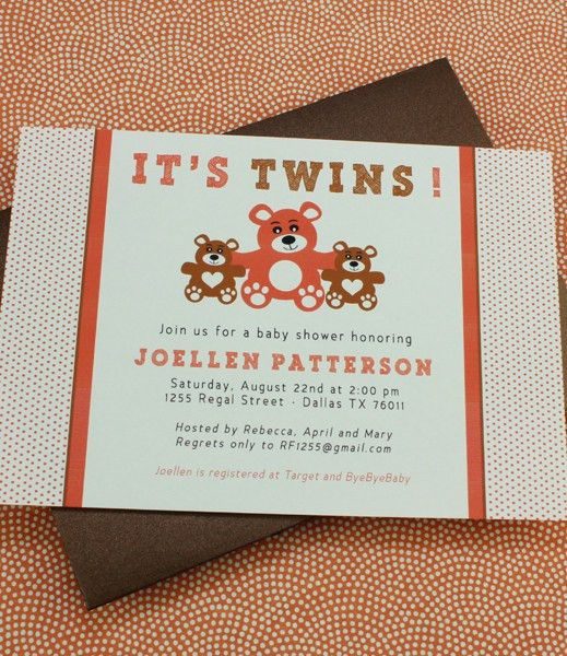 Baby Shower Invitation Template: It's Twins! – Download & Print