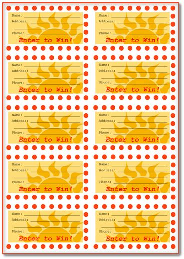 6+ Raffle Ticket Templates – Download Free Samples for Word, PDF