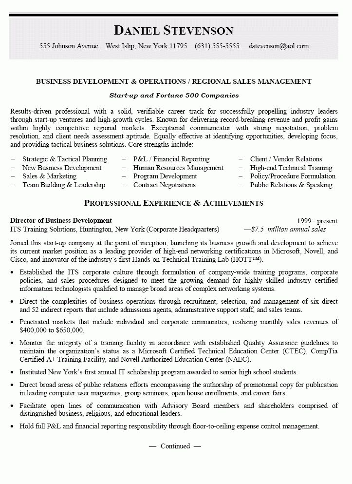automotive manager resume example. regional sales manager resume ...
