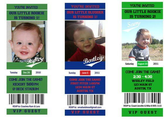 Printable Football Ticket Birthday Photo