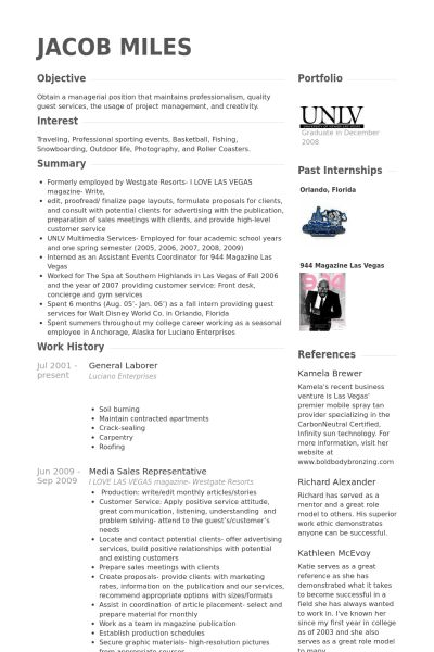 General Labor Resume samples - VisualCV resume samples database