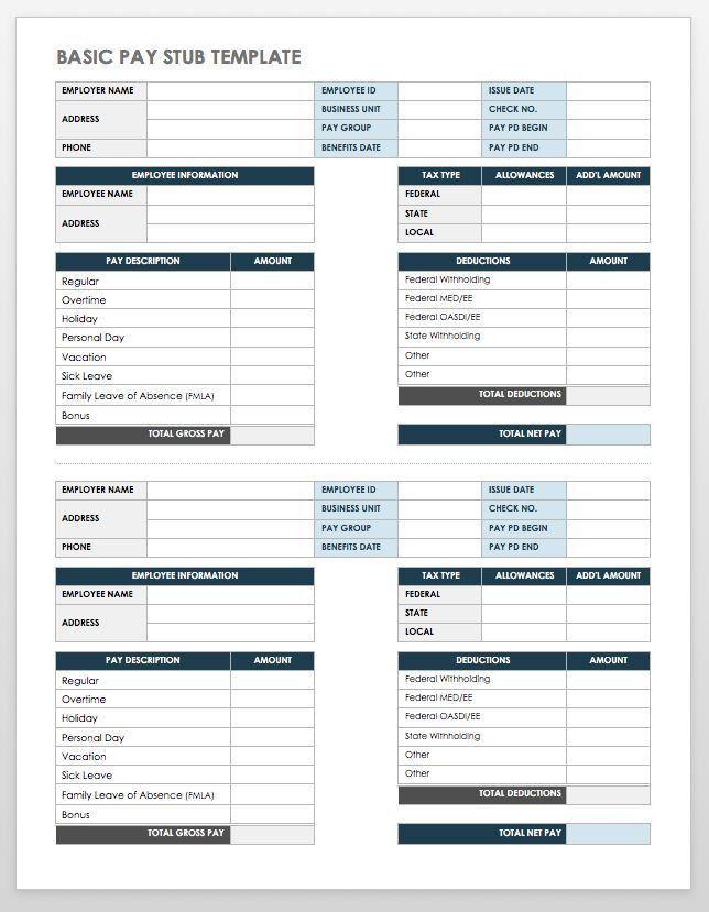 Check Stub Template. Free Check Stub Template Printables Check-On ...