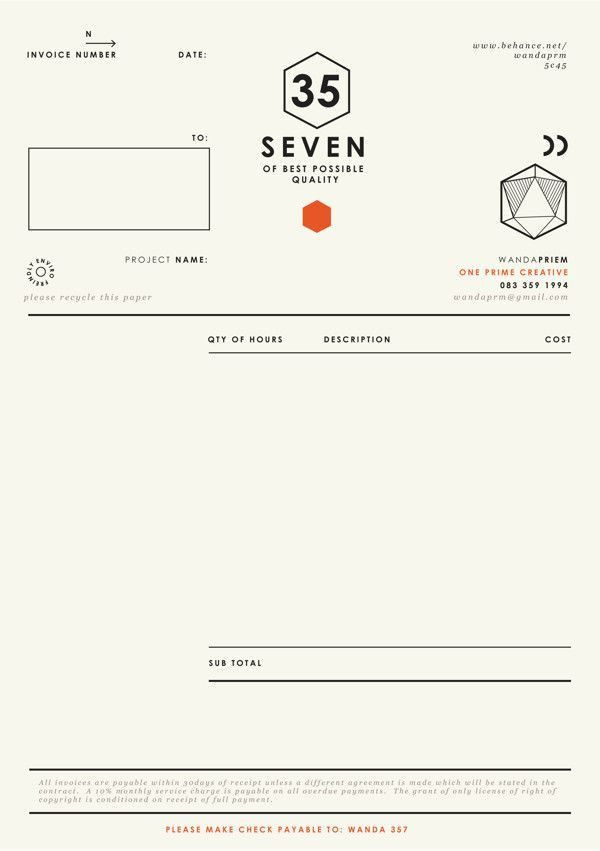 39 best Invoice / Quote / Receipt images on Pinterest | Invoice ...