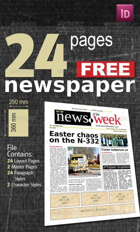 35+ Best Newspaper Templates in InDesign and PSD Formats - Pixel ...