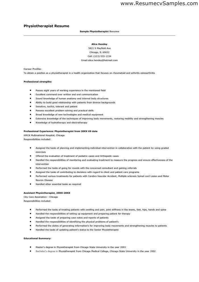 physiotherapist resume sales therapist lewesmr ...
