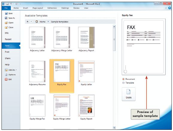 Solved: USE A WORD TEMPLATE TO CREATE A NEW DOCUMENT TIPPressi ...