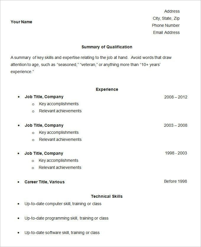 sample of a simple resume strengths for resume resume examples ...