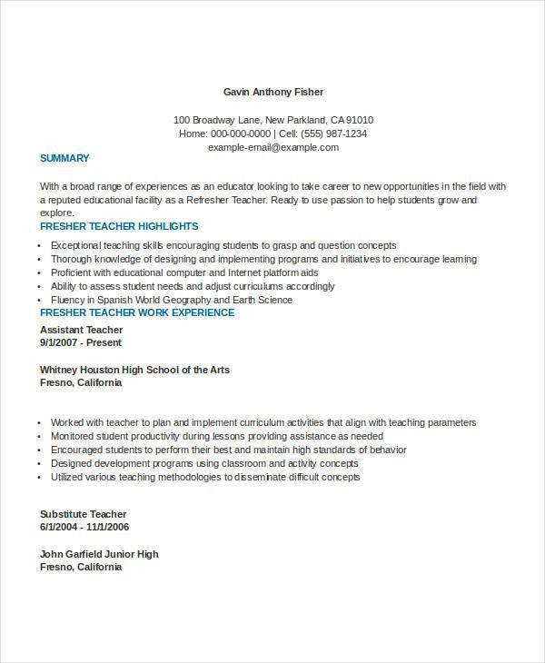 Ready Resume Format. Free Basic Resume Template Basic Resume ...
