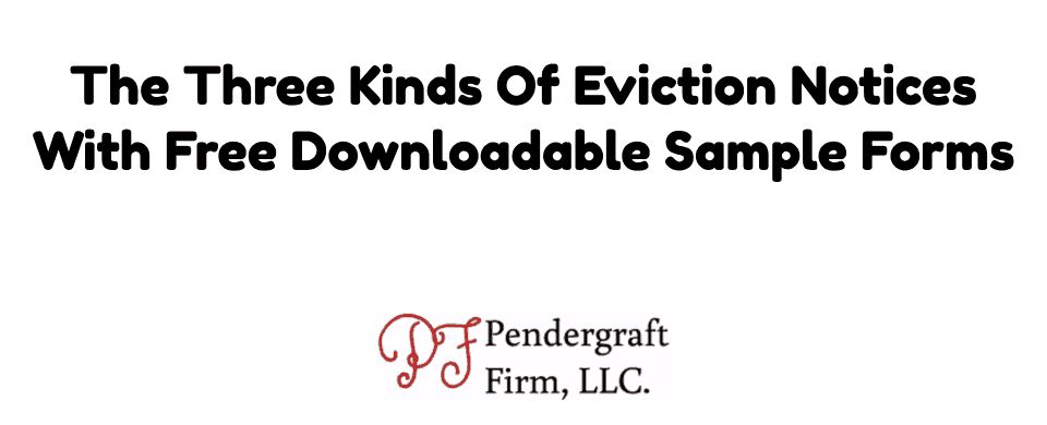 Eviction Notice Form Free Downloadable Samples 3 Kinds of Eviction ...