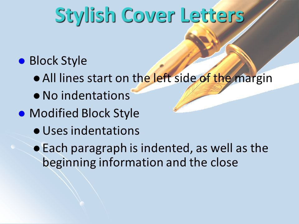 How to Write a Cover Letter Revised April What is a Cover Letter ...