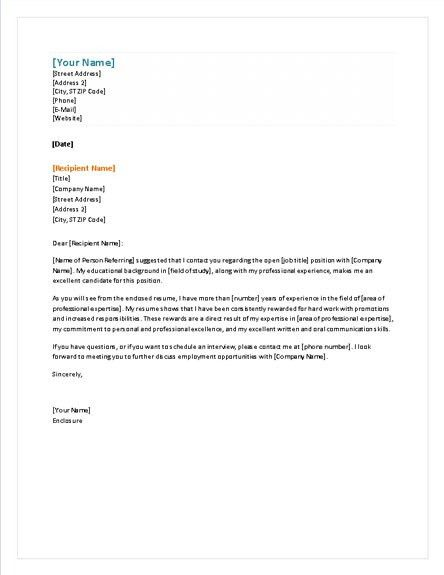 Letter Template Word Cover Letter Template Word microsoft word for ...