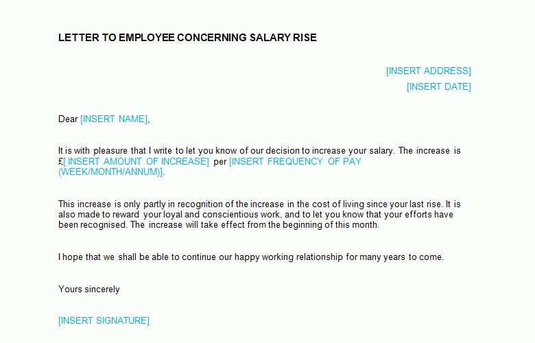 Salary Increase Letter Template - Bizorb