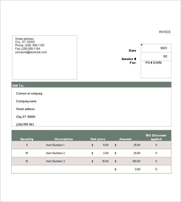 Sales Invoice Template – 6+ Free Sample, Example, Format Download ...
