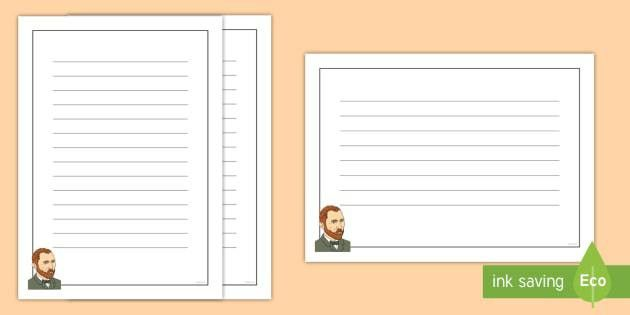 Van Gogh Page Border Pack - Van Gogh, writing template, lined