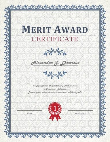 Merit Certificate Template. Highest Gpa Certificate Template Free .