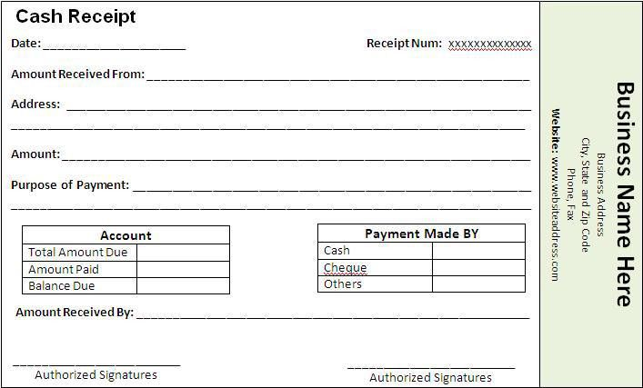 Payment Receipt Formats | Templates and Samples
