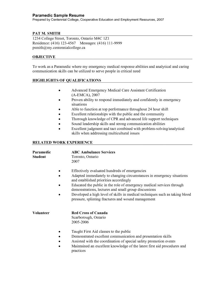 Emt Resume Format. emt resumes resume cv cover letter. beautiful ...