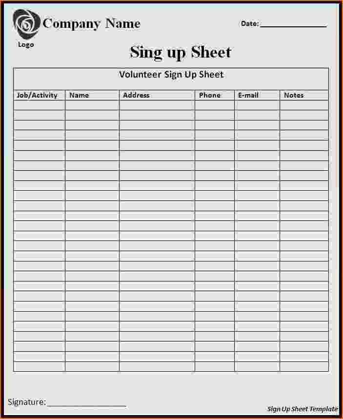 5+ sample sign up sheet | teknoswitch
