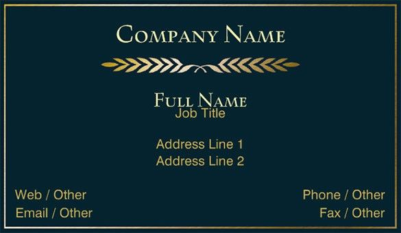 Visiting Card Template – 21+ Free Sample, Example Format Download ...