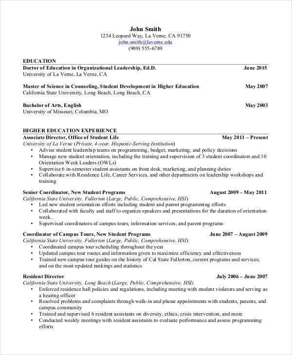 23+ Resume Format Samples | Free & Premium Templates