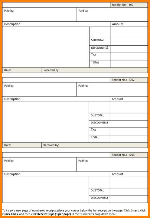 5+ blank reciept template | cashier resumes