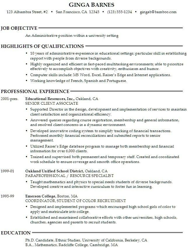 Objective On Resume For College Student - Best Resume Collection
